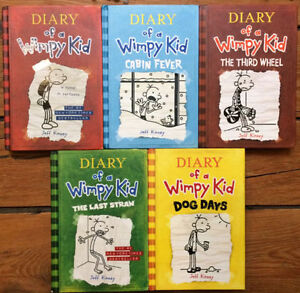 Hardcover - DIARY OF A WIMPY KID books 5 for $20