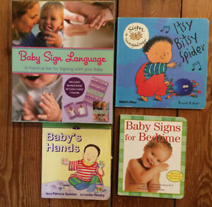 BABY SIGNS Board Books 4 for $10 London Ontario image 1