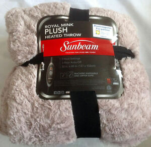 Brand New Sunbeam Heated Throw For 40% Off