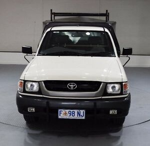 2002 Toyota Hilux RZN147R MY02 Workmate White 5 Speed Manual Cab Chassis Invermay Launceston Area Preview