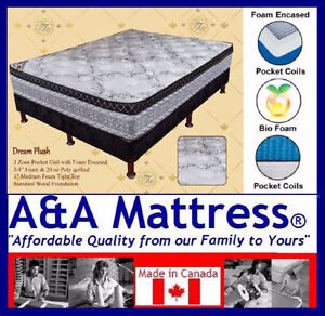 NEW DOUBLE MATTRESSES from $140 +Full BOXPRINGS $80. No Tax Sale London Ontario image 4