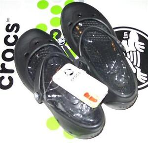 CROCS-ALICE-MARY-JANE-FLAT-SANDAL-Black-Junior-Girls-Women-4-NWT