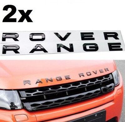 Range Rover Glossy Black Lettering Hood Tailgate Emblem Badge Nameplate