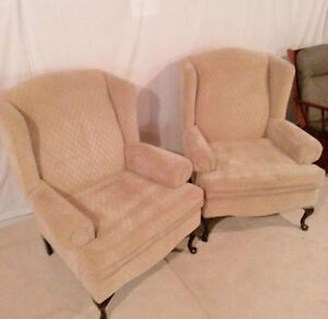 Pair of beige chairs - Great Deals!! ** MUST SELL **