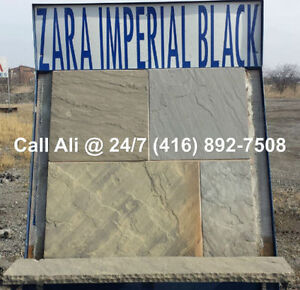 Imperial Black Patio Pavers Square Cut Outdoor Flagstone Paving