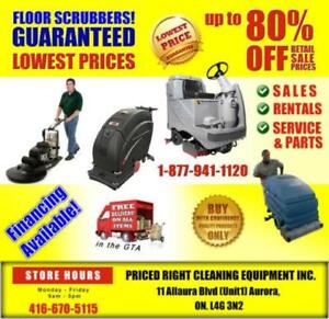 FLOOR SCRUBBERS- Sales-Rentals-Service - PRICED RIGHT!