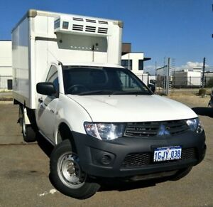 2012 Mitsubishi Triton MN MY12 GL White 5 Speed Manual Cab Chassis Malaga Swan Area Preview
