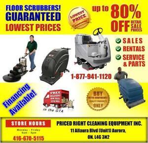 *Best Price* on Top Brand Name Floor Scrubbers -416 670 5115!