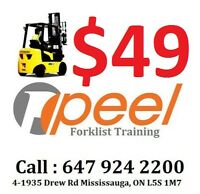 forklift training & license for $49 only call now 647 924 2200