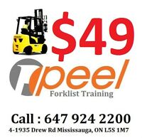 forklift training with license from $49 & job call 647 924 2200