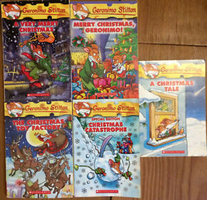 CHRISTMAS GERONIMO STILTON BOOKS 5 for $10