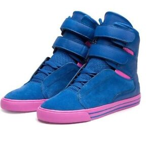 Selling pink/blue Supra high top shoes