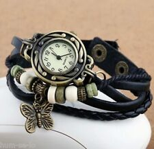 BRACELET LEATHER WOMEN WRIST WATCH - FREE SPARE BATTERY