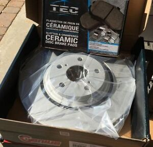 99-03 Acura 3.2TL Premium Coated Brake Rotors Ceramic Pads Kit