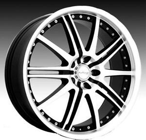 NEW! black&machined rims/tires! bmw 335 745 750 mercedes tl mdx