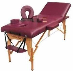 "5"" Pad Portable Massage Table 3 Section SPA Bed / massage table for sale brand new in box NO TAX. / MASSAGE BED FOR SALE"