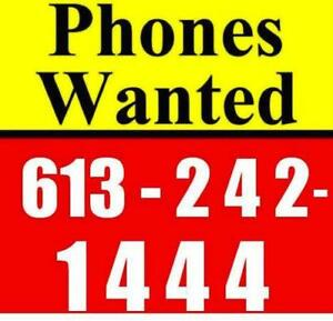TOP BUYER! CELL PHONE DOCTOR ,BUYS ALL PHONES-613-242-1444
