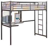 BUNK BED(double bed) with working desk under bed