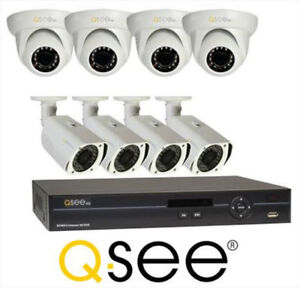 Q-SEE 8 CHANNEL HD SECURITY SYSTEM WITH 8 HD 720P BULLET CAMERAS