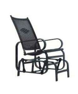 Black Rattan Swing Chair / Patio Swing Chair / Outdoor Glider / Patio Glider Chair for Backyard for sale