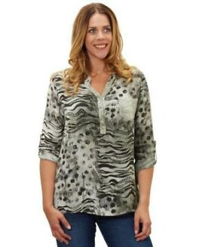 Blouse met animalprint in maat XL