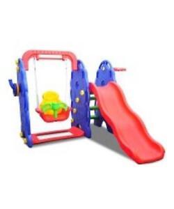 Playground Set / Kids Outdoor Swing Slide Basketball hoop Ladder