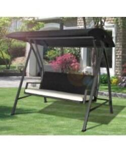 Rattan Patio Swing four person swing lounger/outdoor metal swing
