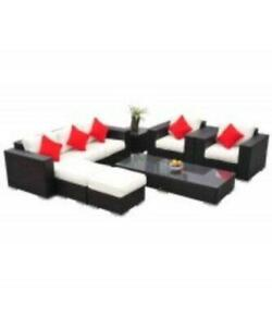 7 pcs Outdoor Rattan Sectional Patio Furniture Set / Garden patio set backyard furniture / garden sofa