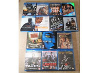 14 x BLURAY FILMS, age 12,PG and 18, inc. Batman Begins, Fast and Furious (blu ray/blueray/blue ray)