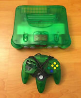 Jungle Green Nintendo 64 (N64) with matching controller