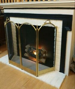 Fireplace with faux insert