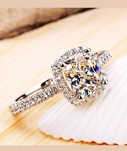 Women Promise / Engagement ring White Gold size 6 - great gift!