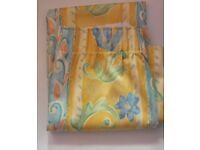 """Curtains yellow and blue kitchen or bedroom 52""""x47"""" £5"""