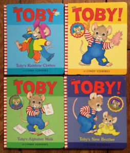 TOBY Board Books by Cyndy Szekers all 4 for $5