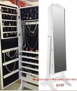 Lockable Jewellery Slim Display Cabinet wih Mirror Browns Plains Logan Area Preview