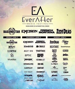 Ever After Music Festival GA 3 Day Passes @ Bingemans Centre
