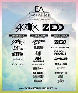 Ever After Music Festival Hard Copy Tics ($130 for ALL 3 Days)