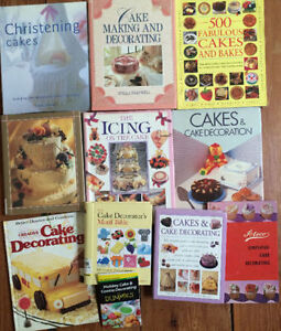 Collection of CAKE DECORATING BOOKS 11 for $20