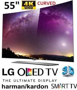 "NEW LG 55"" 4K ULTRA THIN 3D CURVED OLED TV WITH BUILT IN HARMAN"