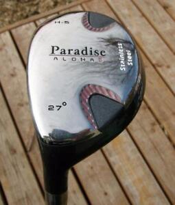 Ladies Paradise Aloha Left Hand #5 HYBRID Golf Club LH MINT