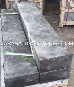 Antique Black Natural Stone Steps Outdoor Black Limestone Steps