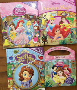 DISNEY PRINCESS LOOK & FIND Board Books $3 each or all 4/$10