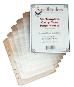 Spellbinders W-030 Die Template Carry Case Page Inserts