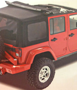 Black Soft Top for Jeep Wrangler