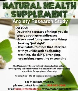 Natural Health Supplement for Anxiety Research Study