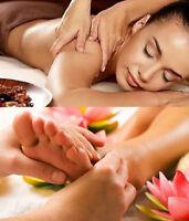 Foot massage (Reflexology), deep tissue massage