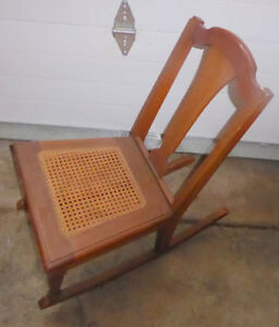 Kids' sized rocking chair $ 15, vintage kids rokcing chair $ 10