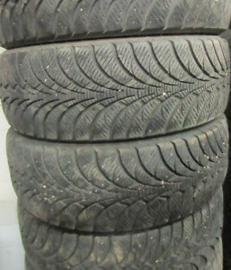 16 inch tires —4 of them—205-60-16(75-90 PERCENT TREAD) They are