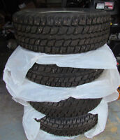 """4 - 16"""" Studded Winter Tires and Rims"""