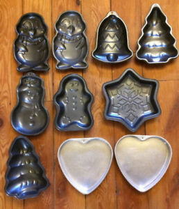 SHAPED CAKE PANS $5 each or all 10 for $25